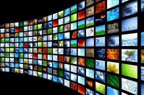 TV screen wall